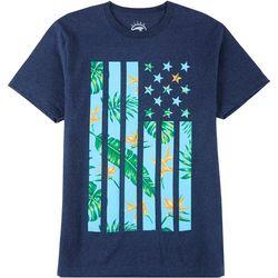 Ocean Current Mens Palm Leaf Flag T-Shirt
