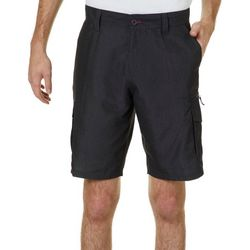 Burnside Mens Heathered Microfiber Cargo Shorts