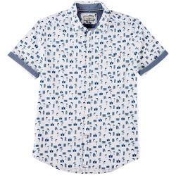 Burnside Mens Surfside Print Shirt