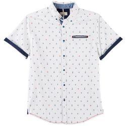 Burnside Mens Captain Print Short Sleeve Shirt