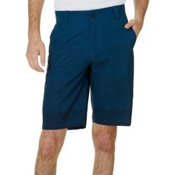 Distortion Mens Stripe Print Hybrid Shorts