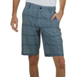 Distortion Mens Textured Stripes Hybrid Shorts