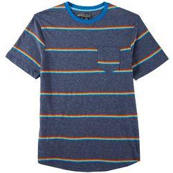 Distortion Mens Striped Crew Neck T-Shirt