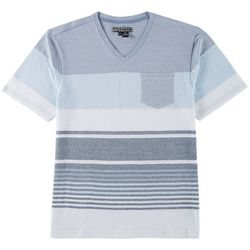 Distortion Mens Viking Stripe Pocket V-Neck T-Shirt