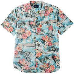 Distortion Mens Tropical Print Pocket Shirt
