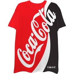 Coca-Cola Mens Colorblocked Logo Short Sleeve T-Shirt