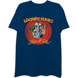 Looney Tunes Mens That's All Folks Short Sleeve T-Shirt