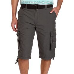 Unionbay Mens Cordova Messenger Belt Cargo Shorts