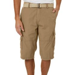 Unionbay Mens Kodiak Belted Cargo Messenger Shorts