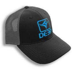 Deep Ocean Mens Black, Grey, & Blue Trucker Hat