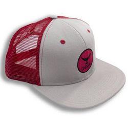 Deep Ocean Mens Red Tuna Tail Trucker Hat