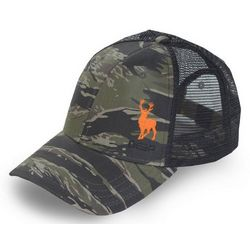 Deep Ocean Mens Camo Stag Trucker Hat