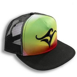 Deep Ocean Mens Rasta Trucker Hat