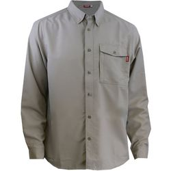 Deep Ocean Mens Boat 2 Bar Solid Long Sleeve Shirt