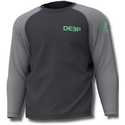 Deep Ocean Mens Varsity Long Sleeve Performance T-Shirt