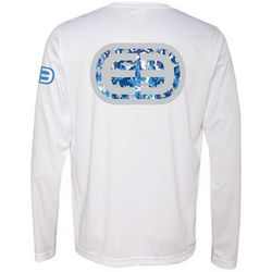 Deep Ocean Mens Ocean Camo Long Sleeve Performance T-Shirt