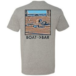 Deep Ocean Mens Boat 2 Bar Docklife T-Shirt