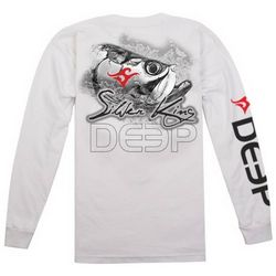 Deep Ocean Mens Silver King Long Sleeve T-Shirt
