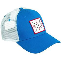 Deep Ocean Mens Blue X Trucker Hat