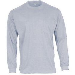 Smith's Workwear Mens Heather Long Sleeve Pocket T-Shirt
