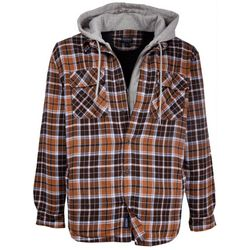Smith's Workwear Mens Fleece Lined Plaid Hooded Jacket