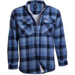 Smith's Workwear Mens Sherpa Lined Plaid Shirt Jacket