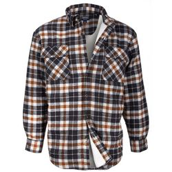 Smith's Workwear Mens Sherpa Lined Clay Plaid Shirt Jacket