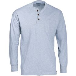 Smith's Workwear Mens Long Sleeve Henley Heather T-Shirt