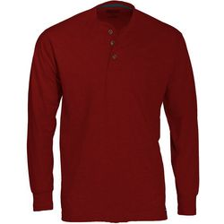 Smith's Workwear Mens Long Sleeve Henley Pocket T-Shirt