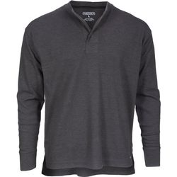 Smith's Workwear Mens Heather Long Sleeve Pullover Shirt