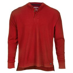 Smith's Workwear Mens Long Sleeve Henley Pullover Shirt