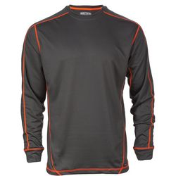 Smith's Workwear Mens Grey Contrast Long Sleeve T-Shirt