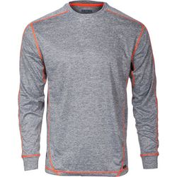 Smith's Workwear Mens Heather Contrast Long Sleeve T-Shirt