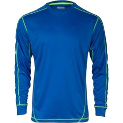 Smith's Workwear Mens Blue Contrast Long Sleeve T-Shirt