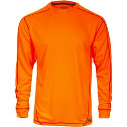 Smith's Workwear Mens Orange Contrast Long Sleeve T-Shirt