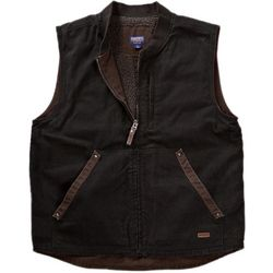 Smith's Workwear Mens Sherpa Lined Duck Canvas Vest