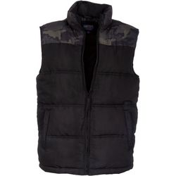 Smith's Workwear Mens Black CamoDouble Insulated Puffer Vest