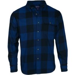 Smith's Workwear Mens Long Sleeve Buffalo Plaid Shirt