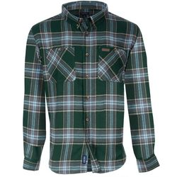 Smith's Workwear Mens Forest Plaid Flannel Button Down Shirt