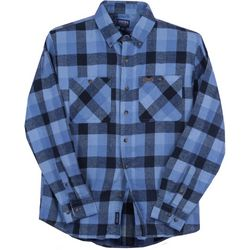 Smith's Workwear Mens Chambray Flannel Button Down Shirt