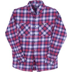 Smith's Workwear Mens Americana Flannel Button Down Shirt
