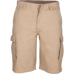Smith's Workwear Mens Solid Soft-Feel Twill Cargo Shorts