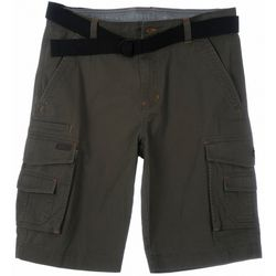 Smith's Workwear Mens Relaxed Fit Belted Twill Cargo Short