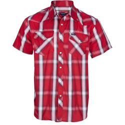 Smith's Workwear Mens Brick Western Plaid Shirt