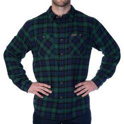 Smith's Workwear Mens Full-Swing Black Watch Flannel Shirt