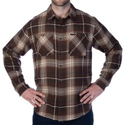 Smith's Workwear Mens Full-Swing Brown Flannel Shirt