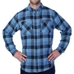 Smith's Workwear Mens Full-Swing Chambray Flannel Shirt