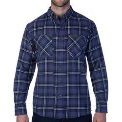 Smith's Workwear Mens Full-Swing Blue Flannel Shirt