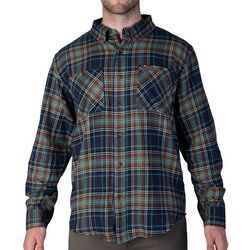 Smith's Workwear Mens Full-Swing Navy & Teal Flannel Shirt