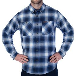Smith's Workwear Mens Full-Swing Blue & Grey Flannel Shirt